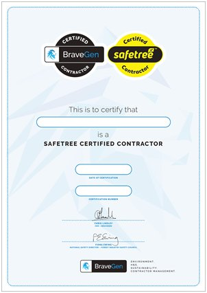Safetree Certificate Reprint